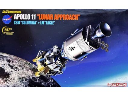 "Model Kit vesmír 11009 - Apollo 11 ""Lunar Approach"" CSM ""Columbia"" + LM ""Eagle"" (1:48)"