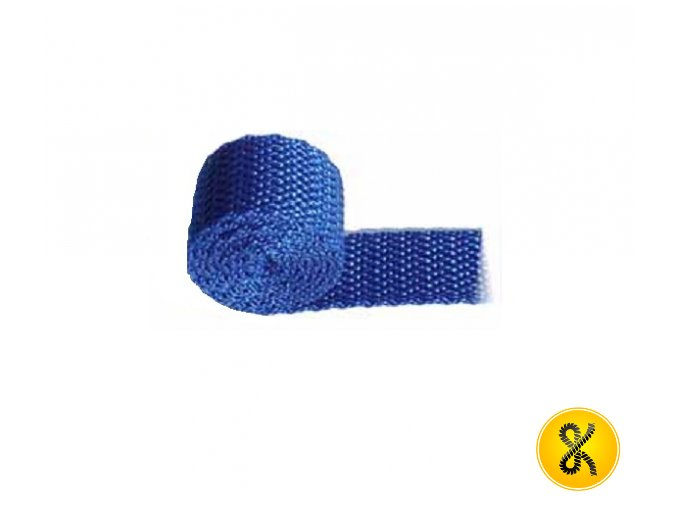 Polypropylenový pás 50 m - modrý