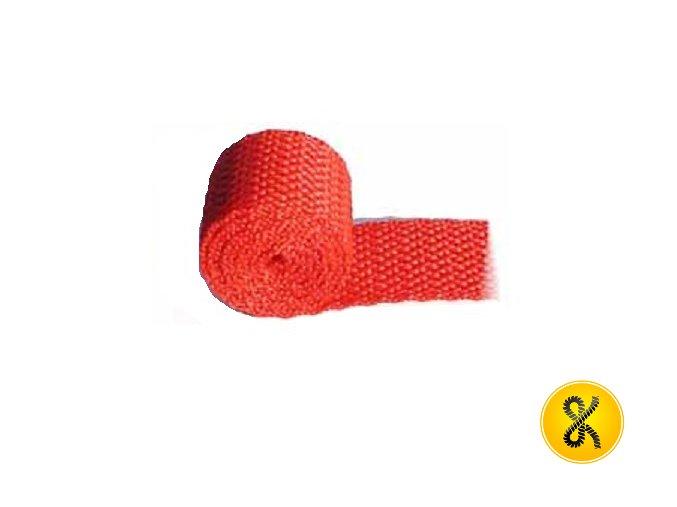 Polypropylenový pás 50 m - červený