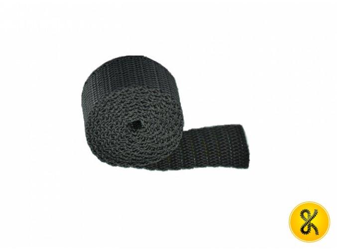 Polypropylenový pás 50 m - černý