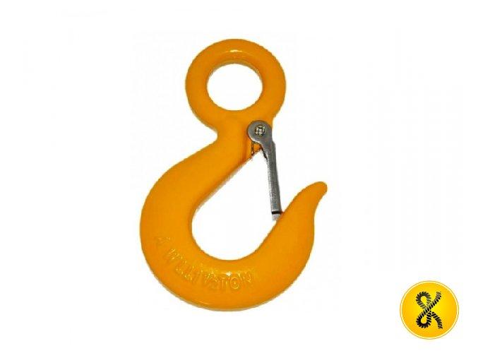 Hák s pojistkou - oranžový