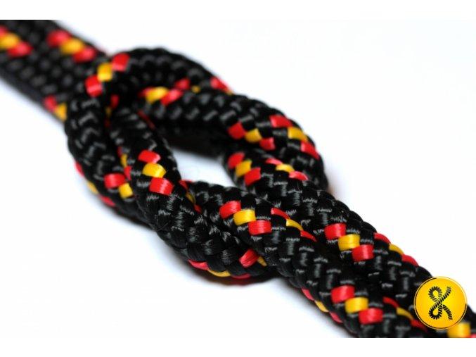 Polypropylenové lano pletené 16 - černé