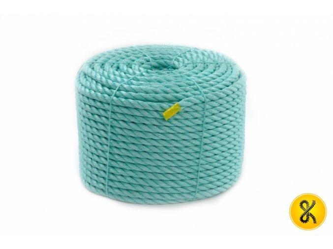 Polypropylenové lano stáčené 220 bm - zelené