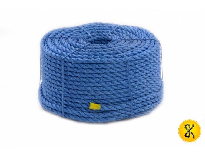 Polypropylenové lano stáčené 220 bm - modré