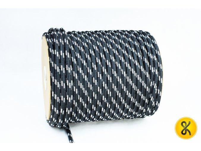 Polyesterové lano 24 - černé