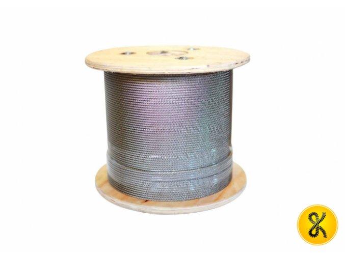 Nerezové ocelové lano 7x19