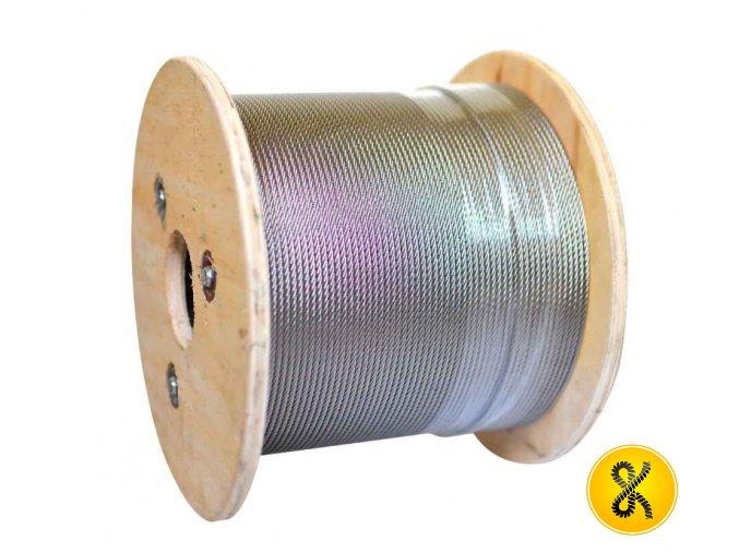 Nerezové ocelové lano 7x7