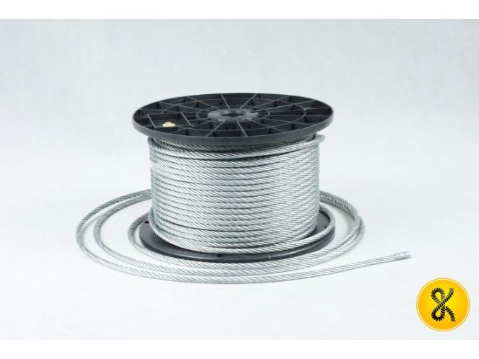 Pozinkované ocelové lano