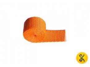 Polypropylenový pás 50 m - oranžový
