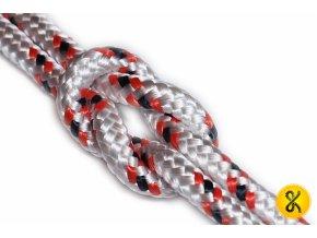 Polypropylenové lano pletené 16 - bílé
