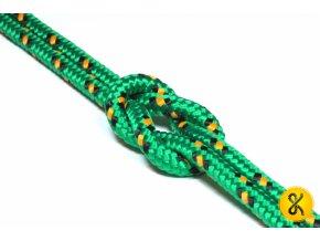 Polypropylenové lano pletené 16 - zelené