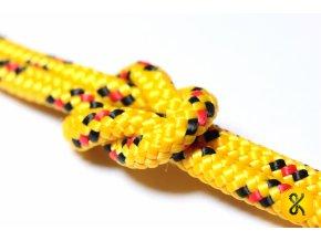 Polypropylenové lano pletené 16 - žluté