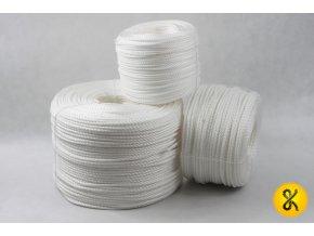 Polypropylenové lano stáčené 220 bm - bílé