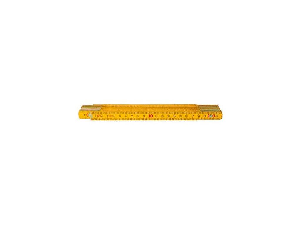 Metr skládací dřevěný, žlutý, 2 m