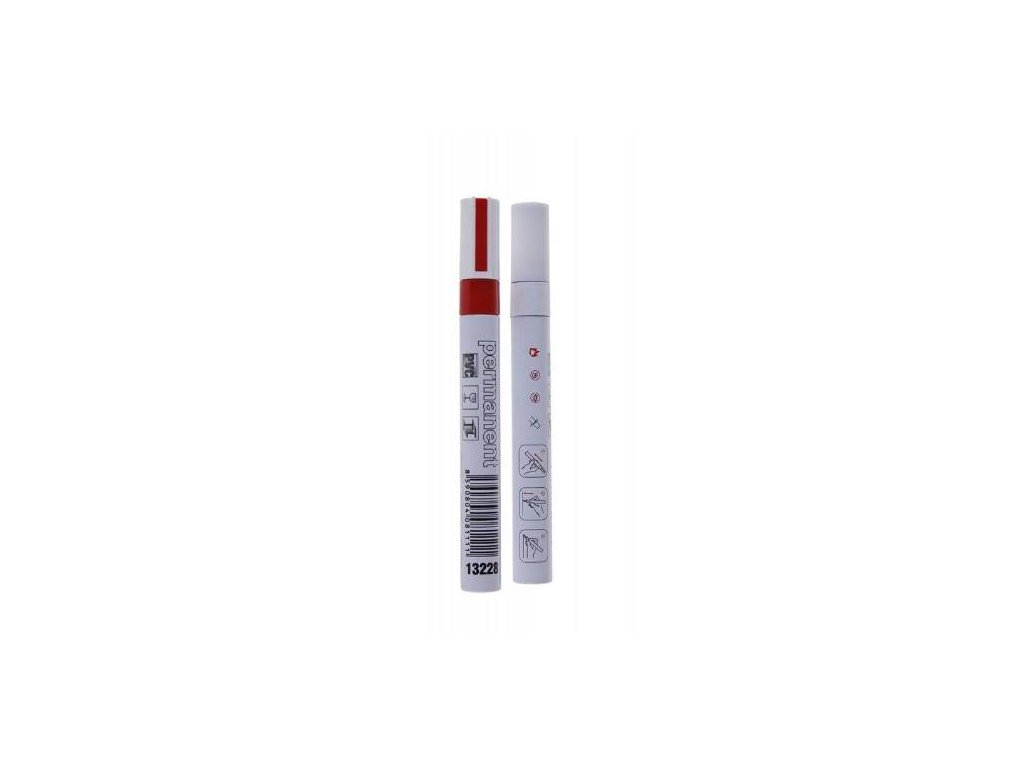 Popisovač permanentní ALU, max. 80 °C, červený