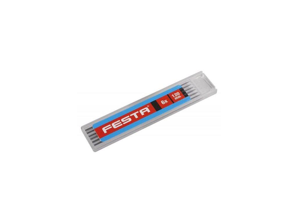Tuha náhradní do řemeslnická tužky, HB, 6 ks, FESTA
