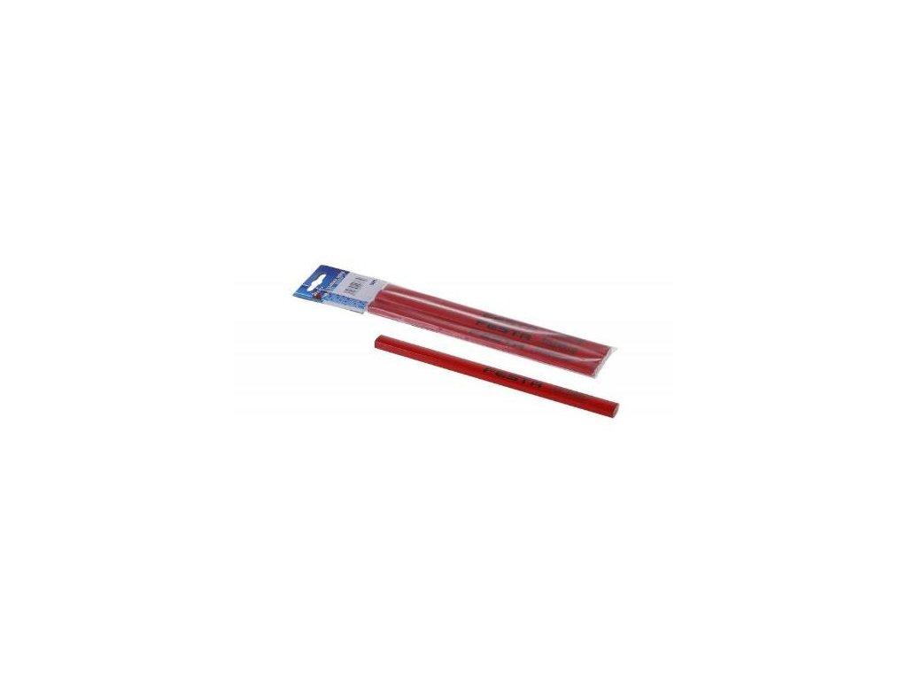 Tužka tesařská, sada 3 ks, červený lak, FESTA