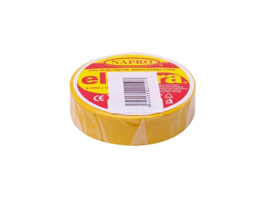 Páska elektroizolační PVC IZOVIAL, 10 m x 15 mm, žlutá