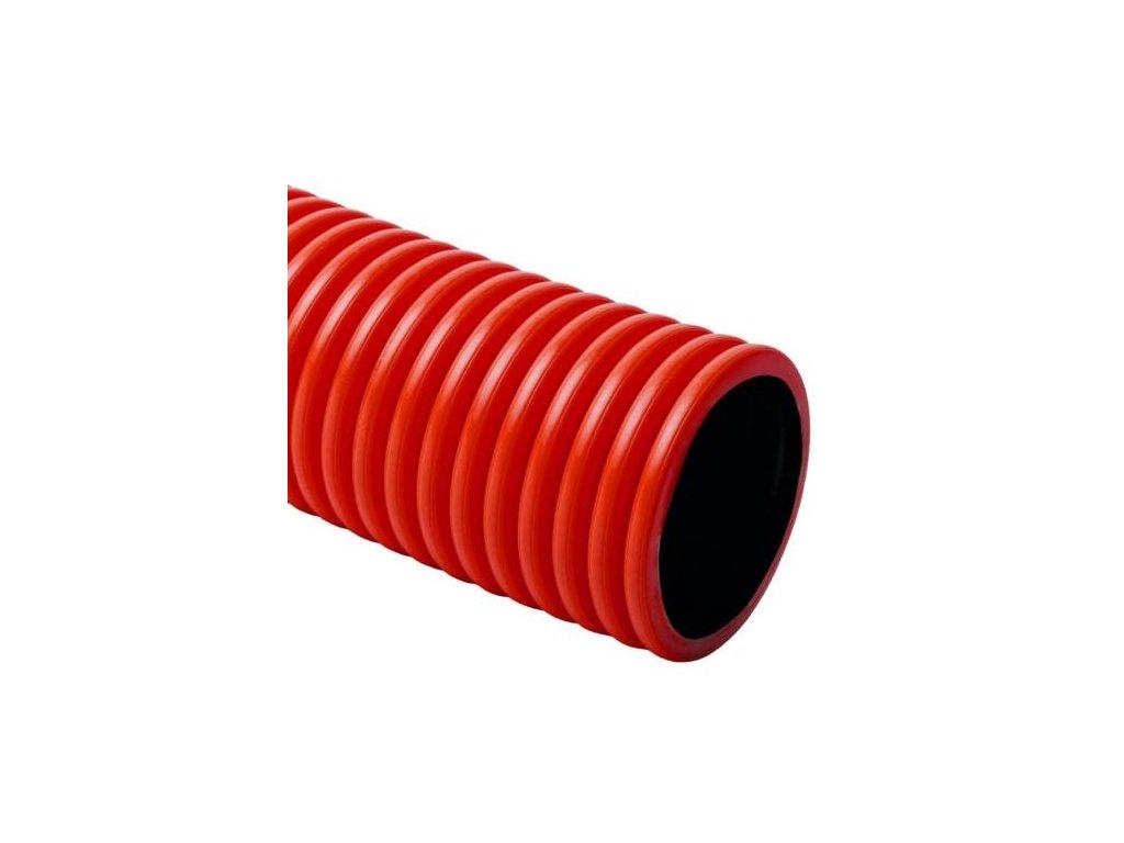 Chránička dvouplášťová, 450N, 61/70 mm, 50 m, červená, KOPOFLEX