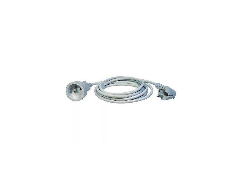 Kabel prodlužovací, 2m / 250V, bílá
