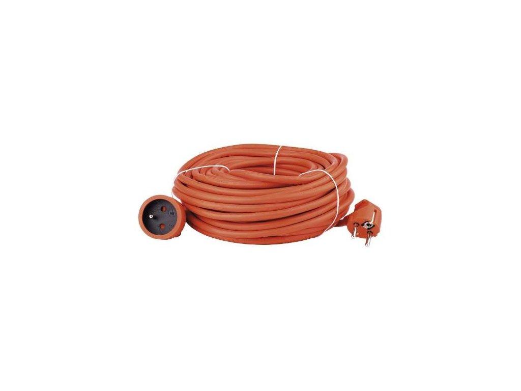 Kabel prodlužovací, 25m / 250V, oranžová