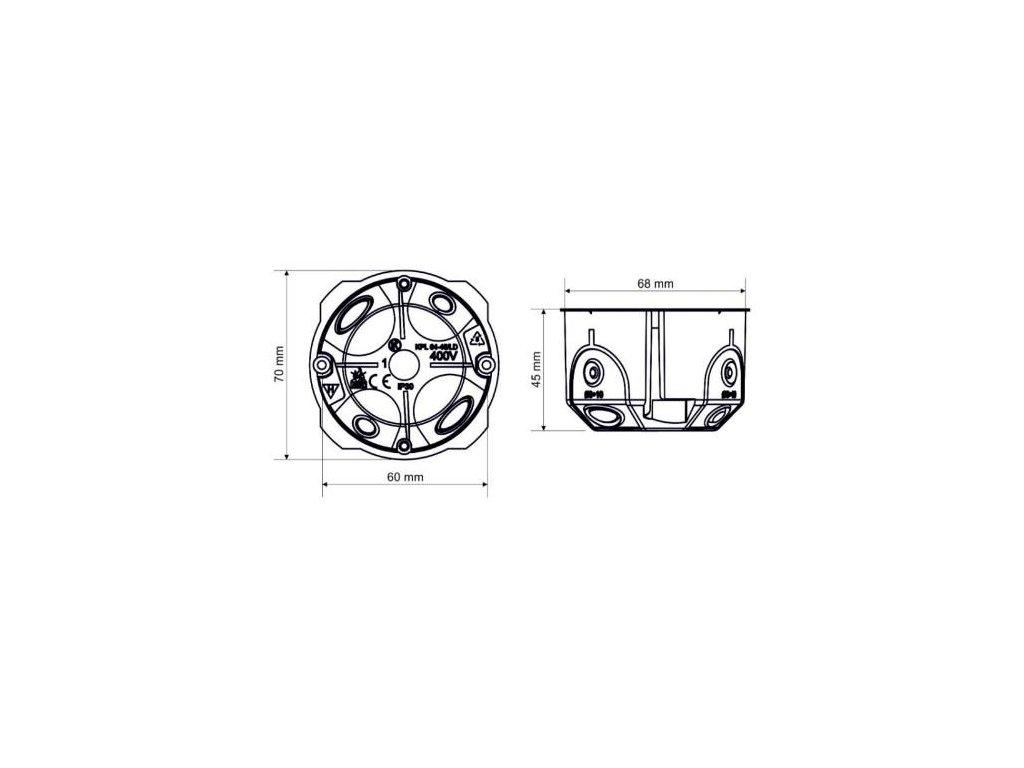 Krabice KPL 64-45/LD do dutých stěn