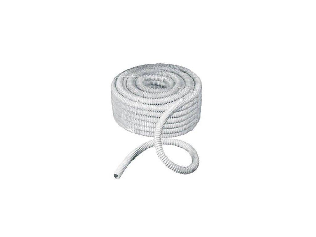 Hadice ohebná, samozhášivá, 320N, 25/29,6 mm, 30 m, šedá