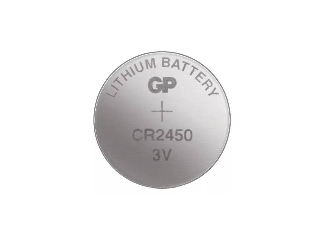 Baterie GP CR2450, lithiová, 5BL, blistr
