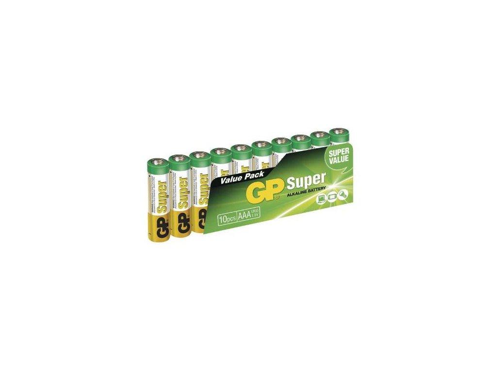 Baterie GP 24A SUPER LR03 10SH, fólie