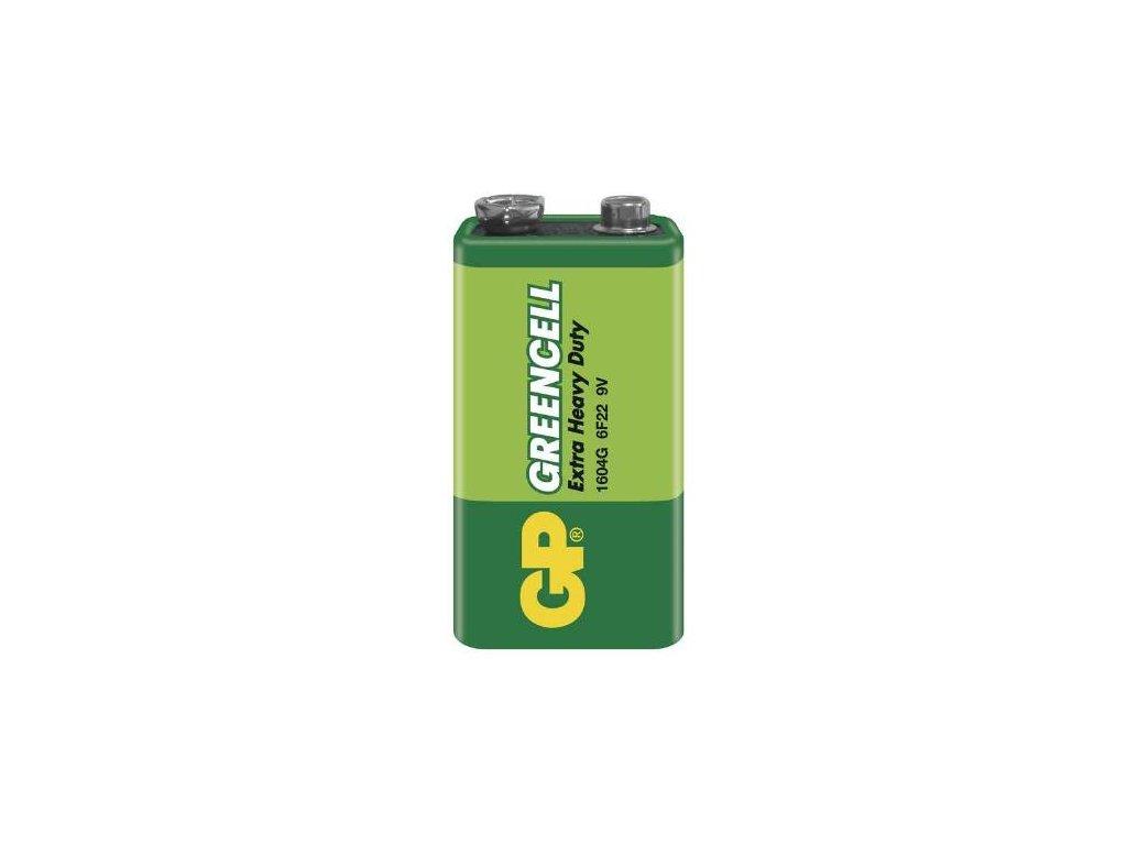 Baterie GP GREENCELL 9V 6F22 1SH, fólie