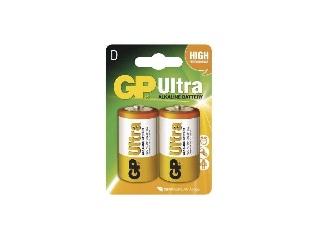 Baterie GP 13AU LR20 D, 2BL blistr