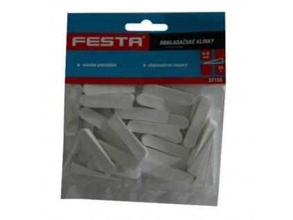 Klíny obkladačské plastové, 0 - 8 mm, 30 ks