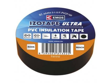Páska izolační, 15 mm x 10 m, černá