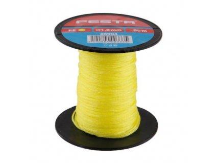 Provázek stavební pletený, 50 m, 1 mm, žlutý