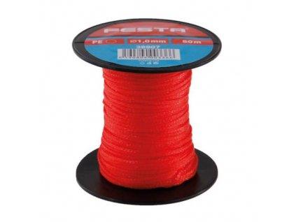 Provázek stavební pletený, 50 m, 1 mm, červený