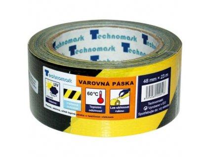 Páska výstražná samolepící PVC, 48 mm x 22 m, černo-žlutá