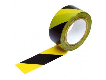 Páska výstražná, 80 mm x 250 m, černo-žlutá