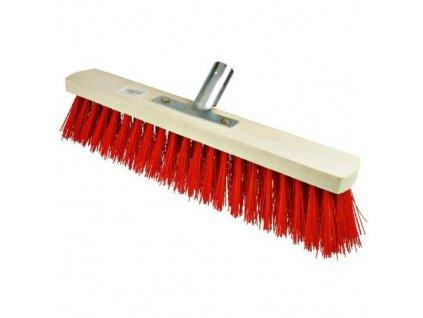 Koště silniční, 300 x 60mm, vlas 8 cm, červené
