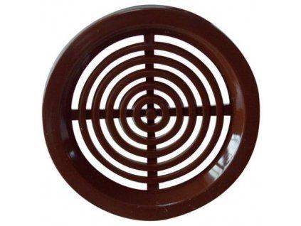 Mřížka větrací kruhová VM, Ø 50 mm, 4 ks, hnědá 0414