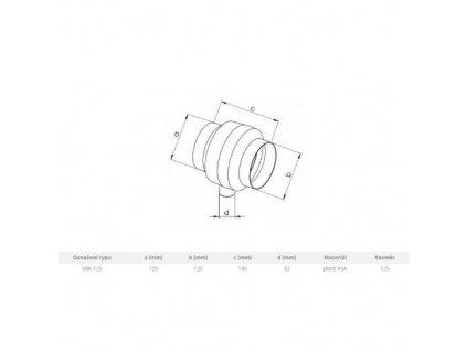 Sběrač s odvodem kondenzátu SBK, Ø 125 mm 0671