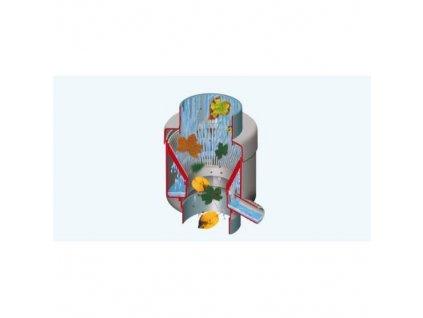 Sběrač dešťové vody de luxe s filtrem, šedý