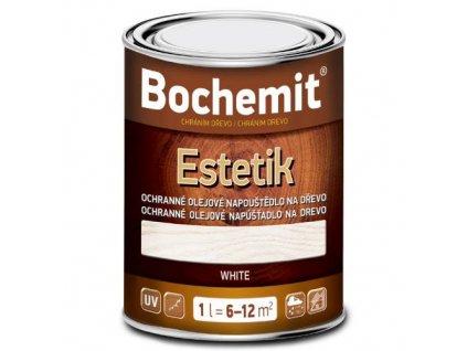 Bochemit Estetik Bílý 1L, olejové napouštědlo na dřevo