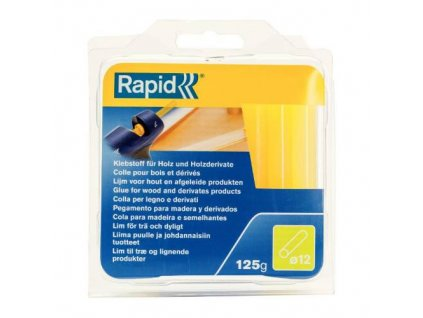 Lepidlo tavné na dřevo, Ø 12 mm, 125 g, nažloutlá, blistr, RAPID