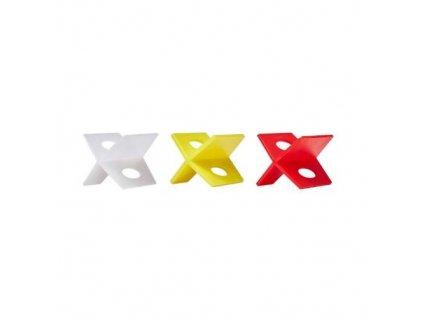Křížky distanční plastové, 1 mm, 100 ks, LEVELYS