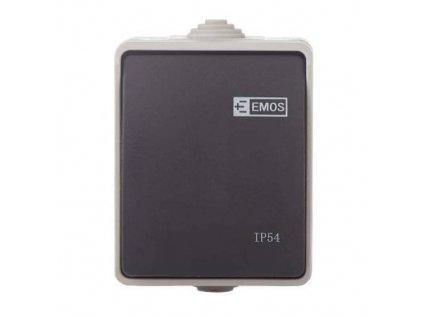 Přepínač 250V / 10AX, IP54, 1 tlačítko
