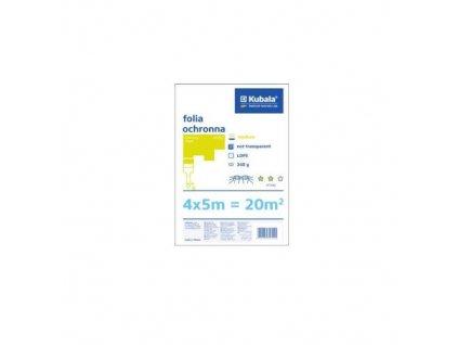 Fólie zakrývací LDPE, neprůsvitná, 12 my, 4 x 5 m, KUBALA