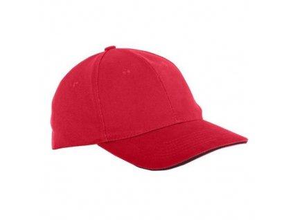 Čepice baseballová univerzální L1813300, červená, LAHTI PRO
