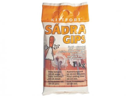 Sádra šedá 1kg stavební KITTFORT