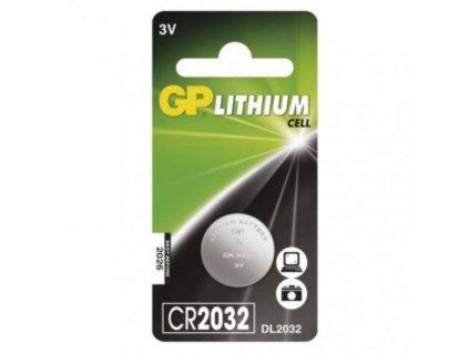 Baterie GP CR2032, lithiová, blistr