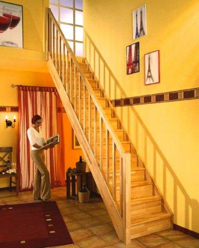 Mlynářské schody DOLLE PARIS S podstupnicemi, Včetně zábradlí, Přímé